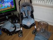 BLUE *rare* LOOLA BEBE CONFORT PUSHCHAIR/CAR SEAT TRAVEL SYSTEM